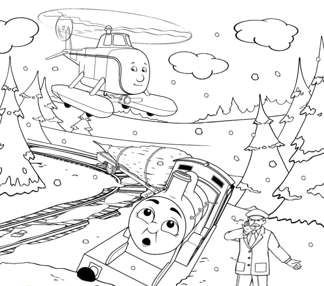 Christmas Trains Coloring Pages