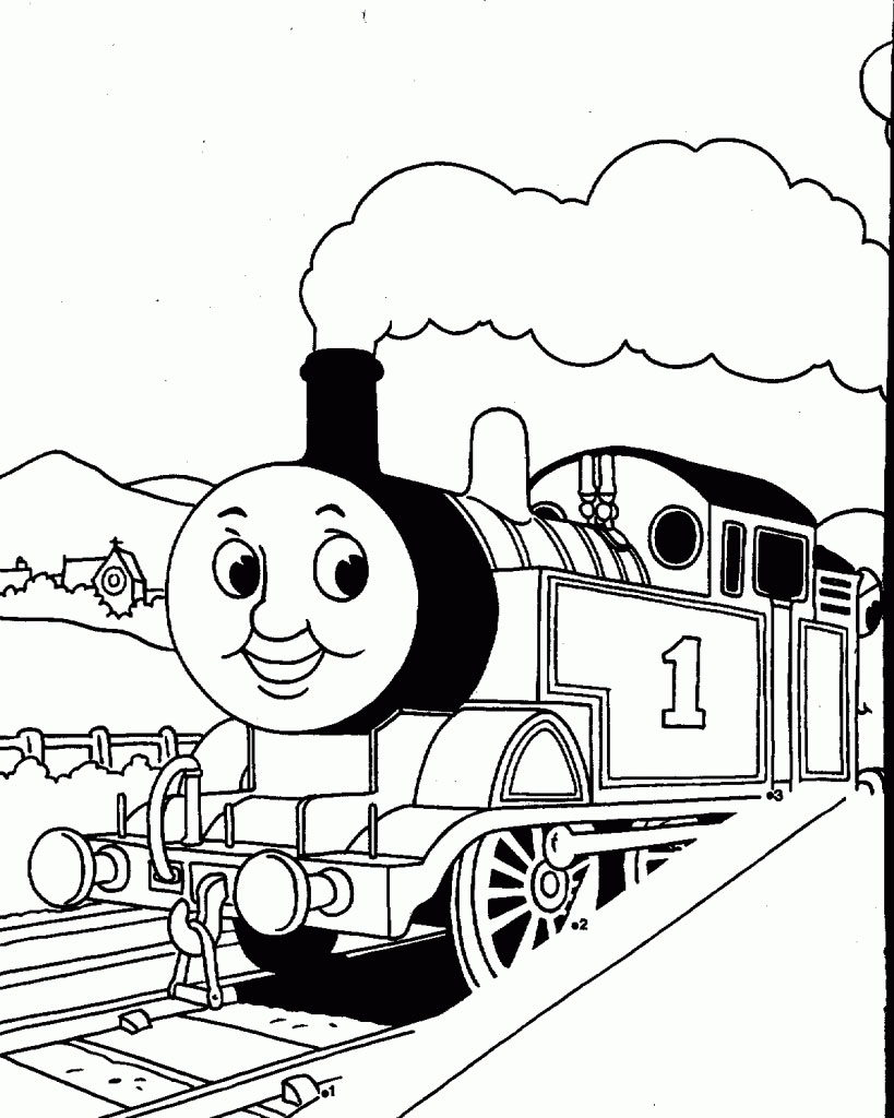 Preschool Coloring Pages Train