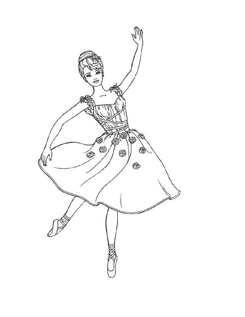 Dancing Barbie Coloring Page
