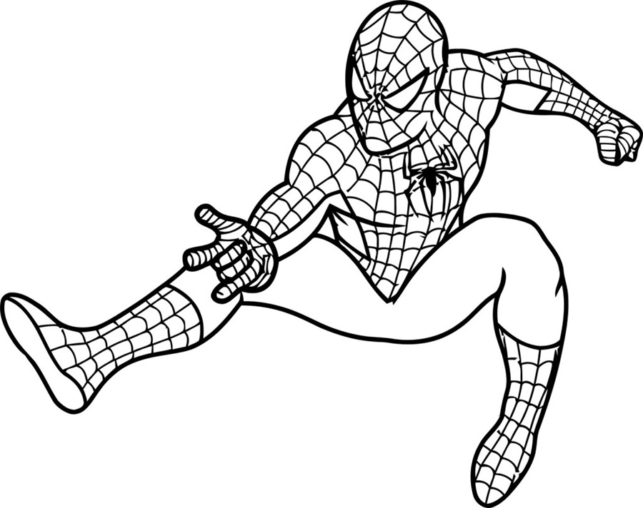 Easy Spiderman Coloring Pages For Kids