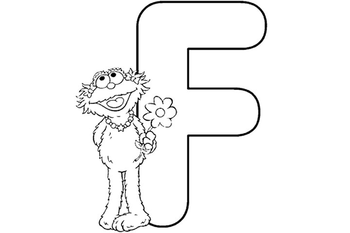 Elmo Coloring Pages Alphabet