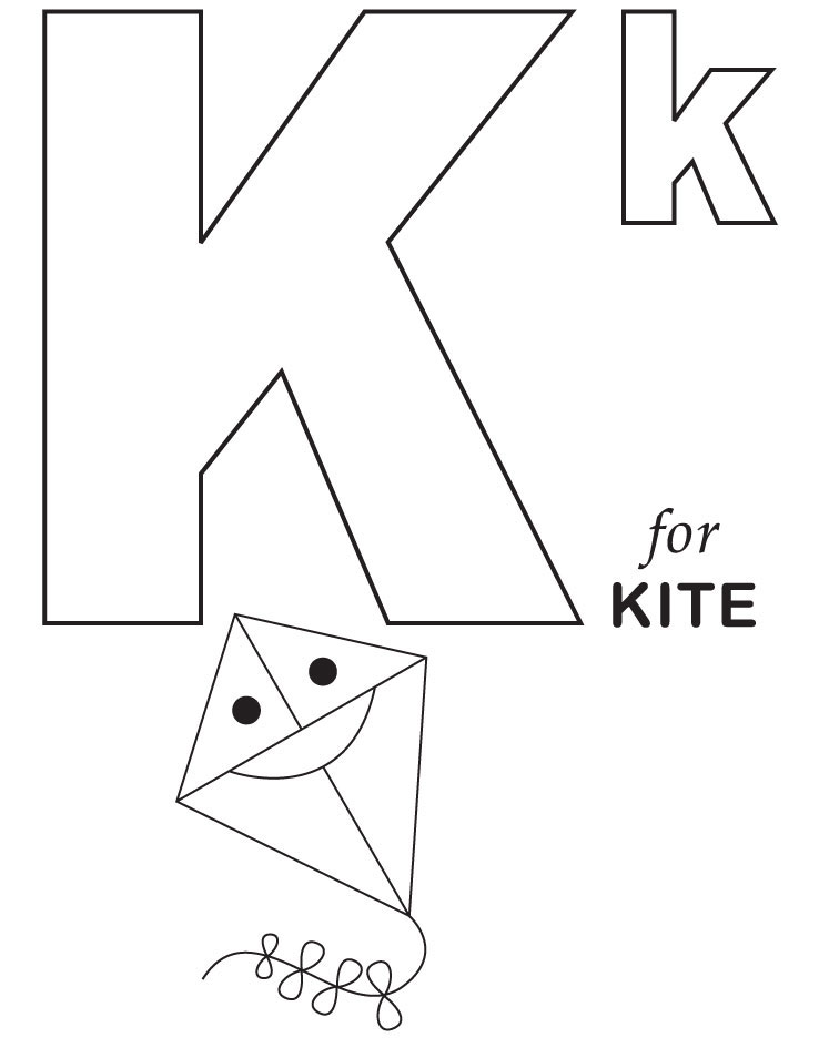 Free Alphabet Coloring Pages For Kids