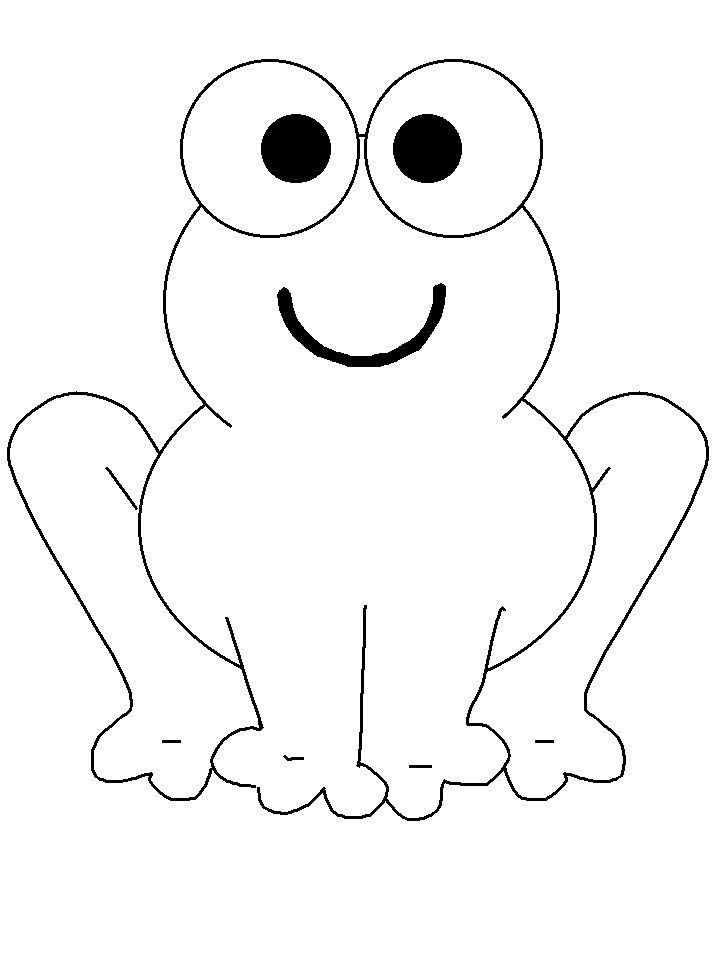 Frog Coloring Pages For Preschoolers