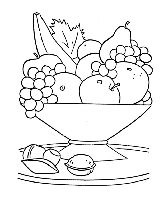 Fruits Basket Coloring Pages