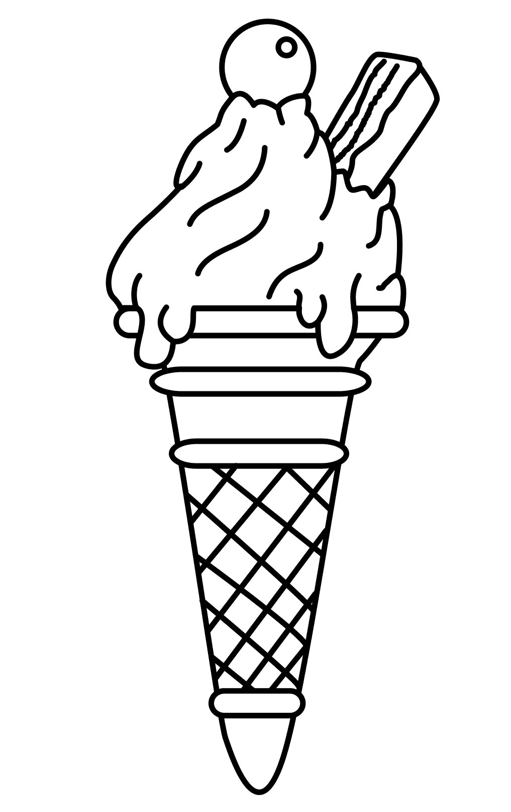 Ice Cream Coloring Pages Free Download