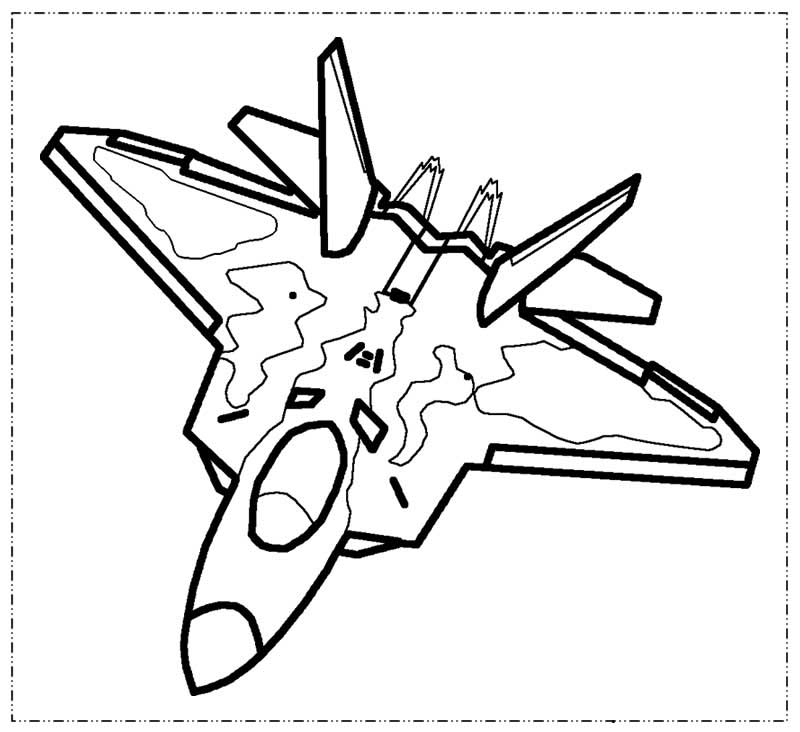 Lego Airplane Coloring Page