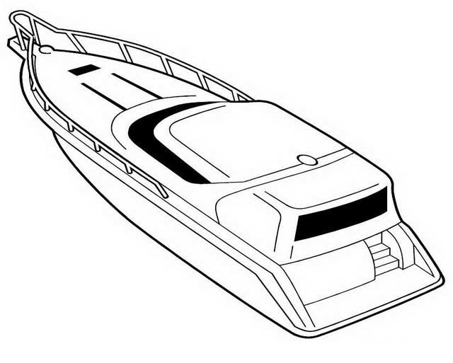 Motor Boat Coloring Pages
