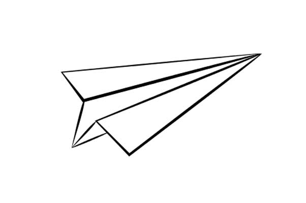 Paper Airplane Coloring Page