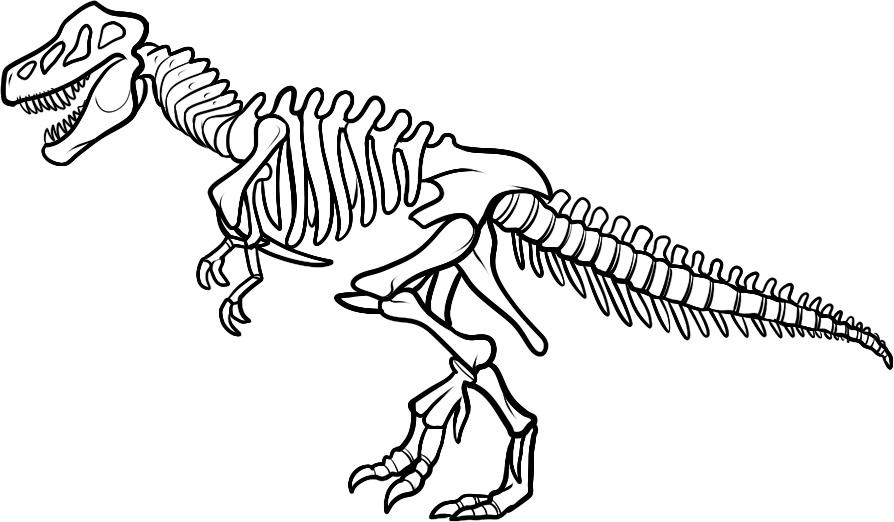 dinosaur t rex coloring pages - dinosaur coloring pages for kids