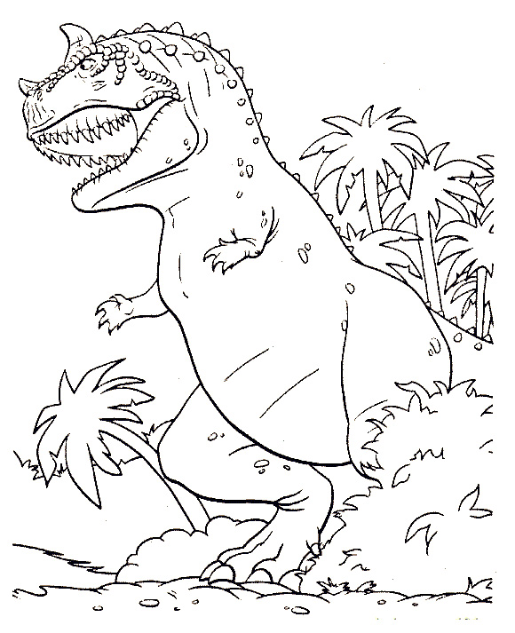 Realistic Dinosaur Coloring Pages
