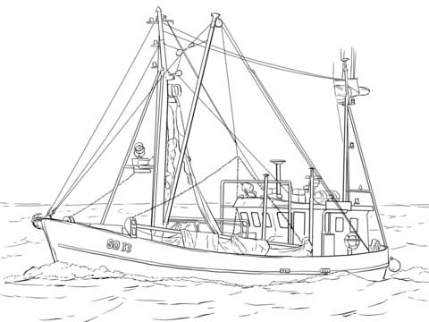 Rescue Boat Coloring Pages