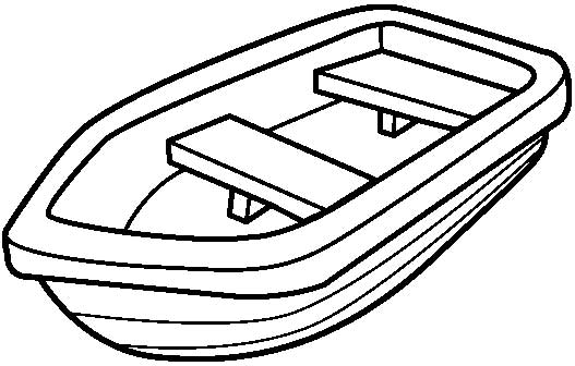 Row Boat Coloring Pages