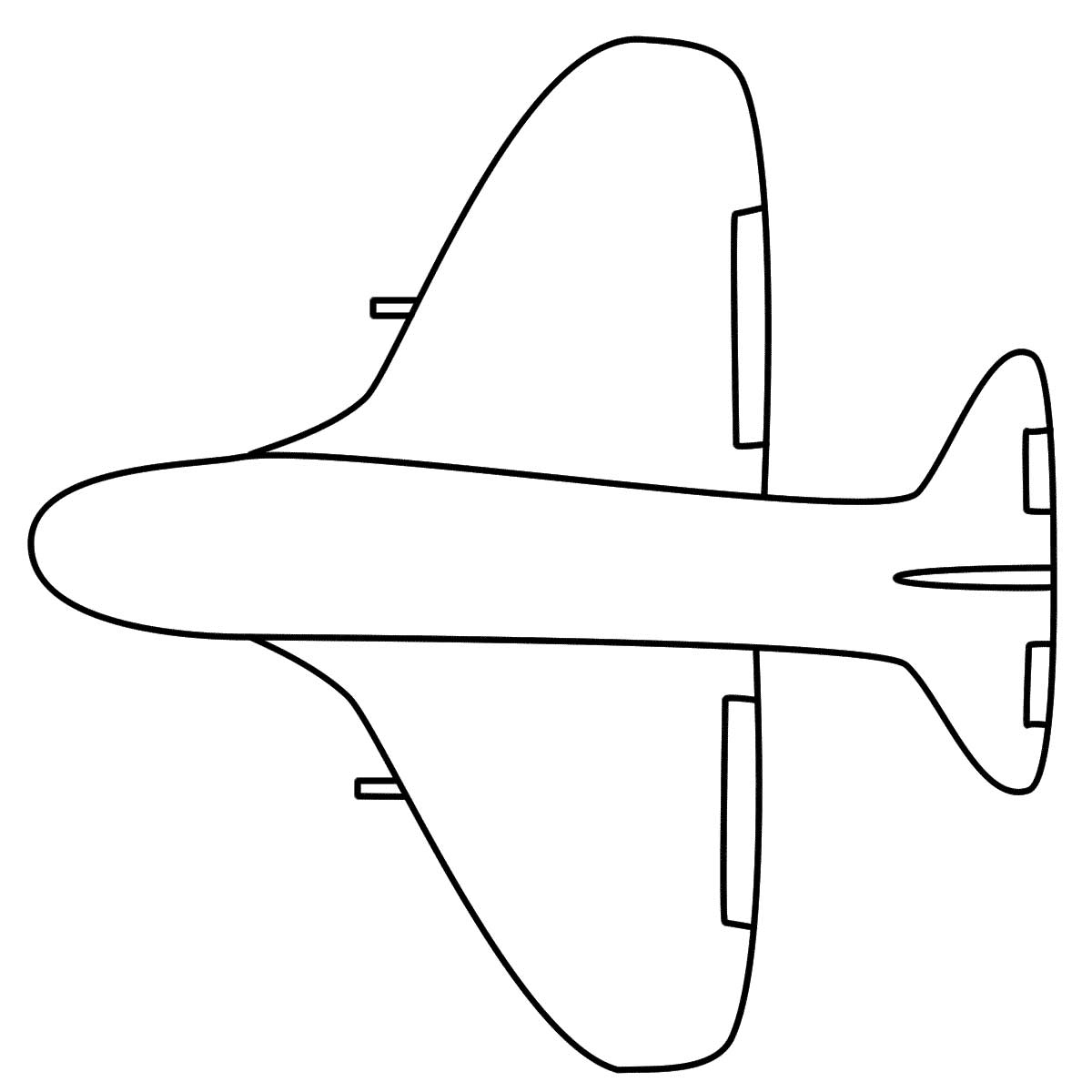 Simple Airplane Coloring Page