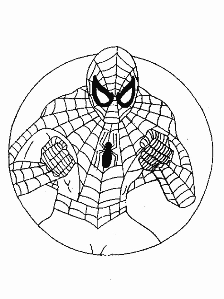 Spiderman Coloring Pages For Preschoolers