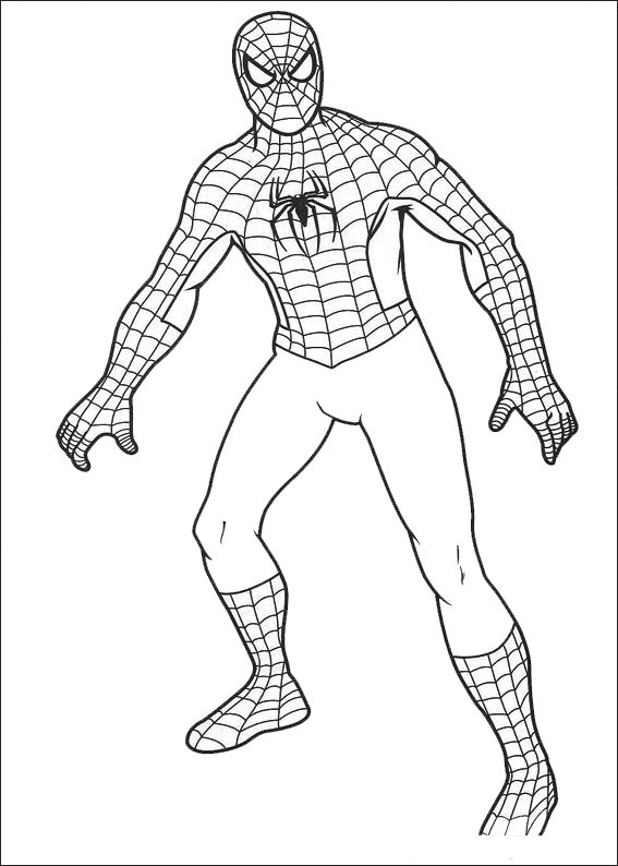 Spiderman Coloring Pages Forn Kids Print