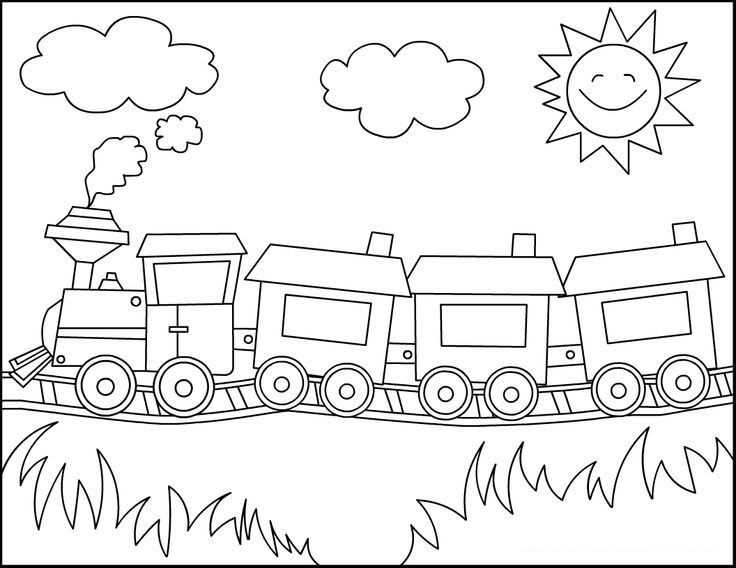 Train Coloring Pages For Toddlers