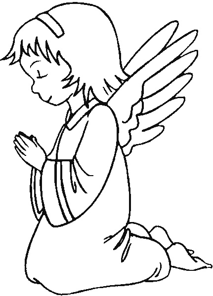 Angel Coloring Pages Christmas