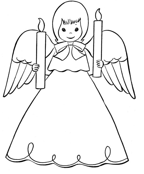 Angel Coloring Pages To PrintAngel Coloring Pages To Print