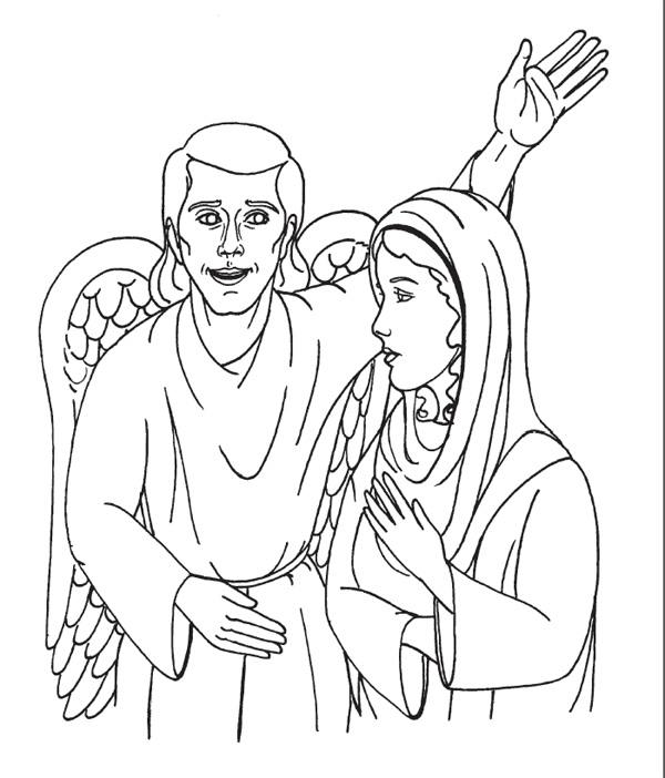 Angel Gabriel Coloring Pages