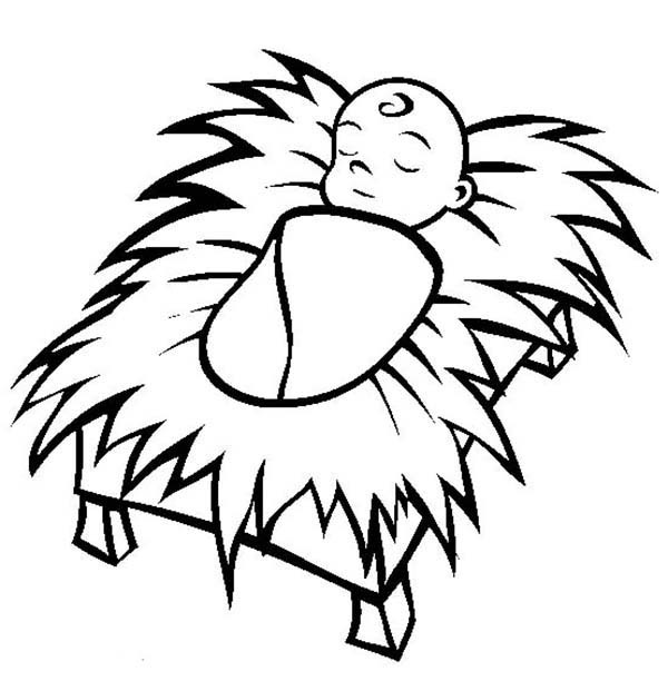 Baby Jesus Coloring Pages Free Printable