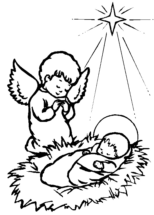 Baby Jesus Coloring Pages Printable
