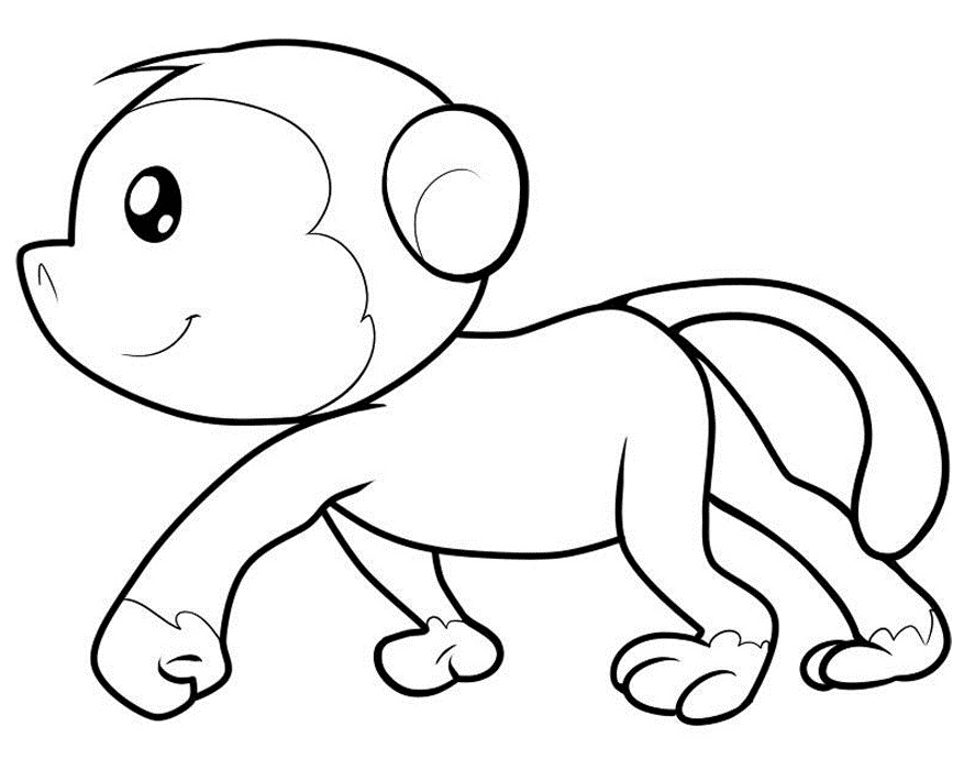 Baby Monkeys Coloring Pages