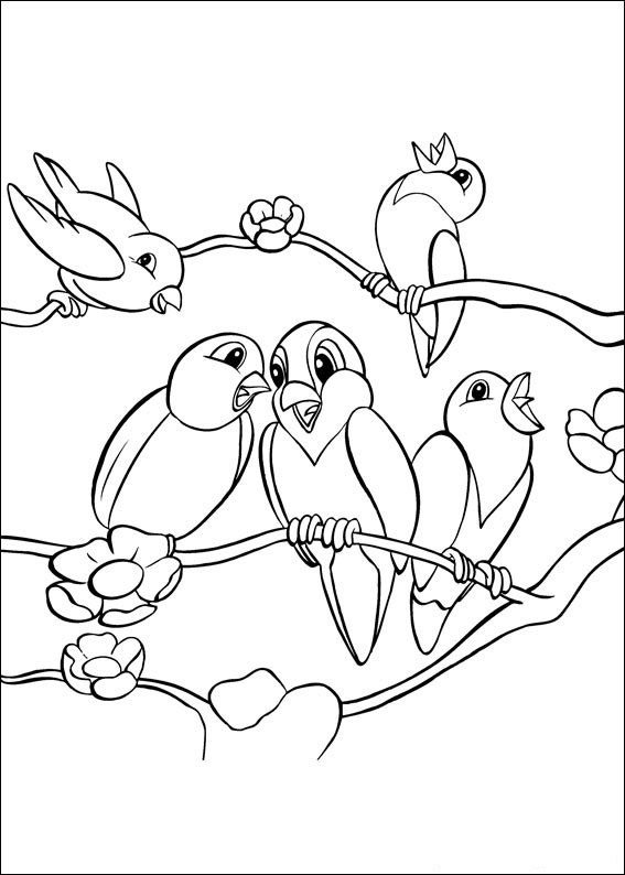 Baby Parrot Coloring Pages