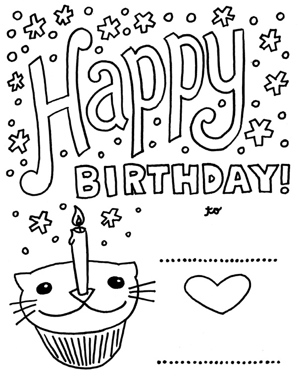Birthday Coloring Pages
