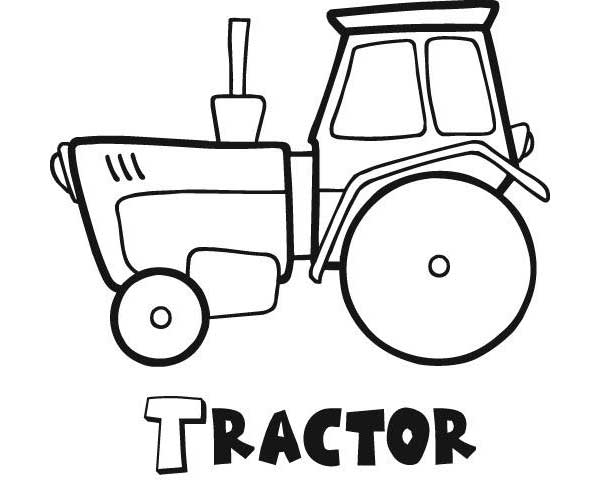 Case Tractor Coloring Pages