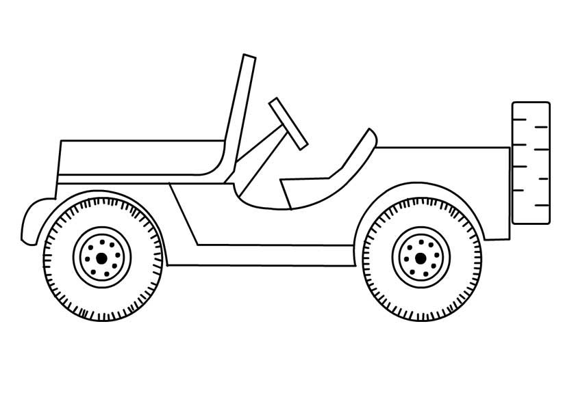 Coloring Pages Of Jeep
