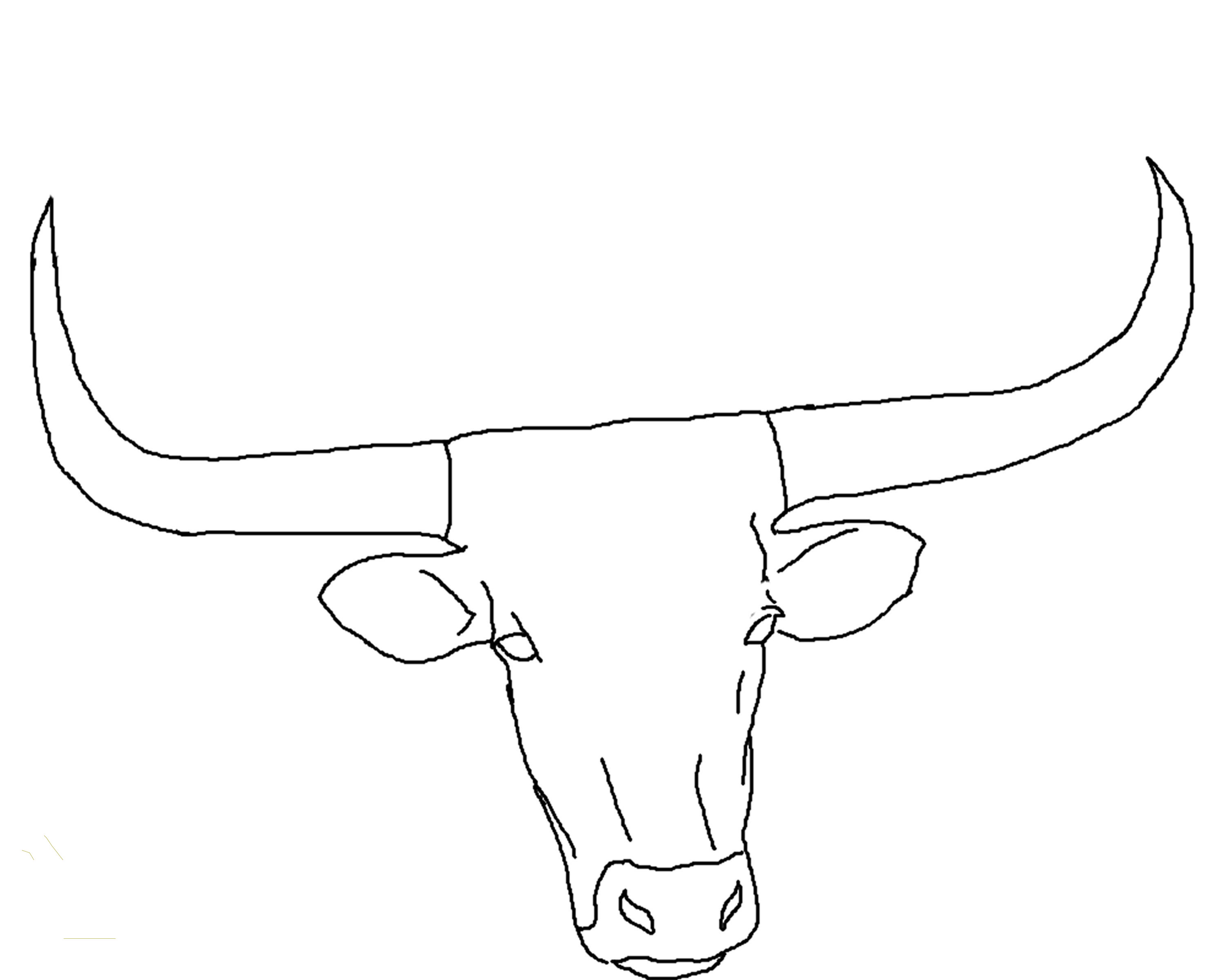 Cow Face Coloring Pages