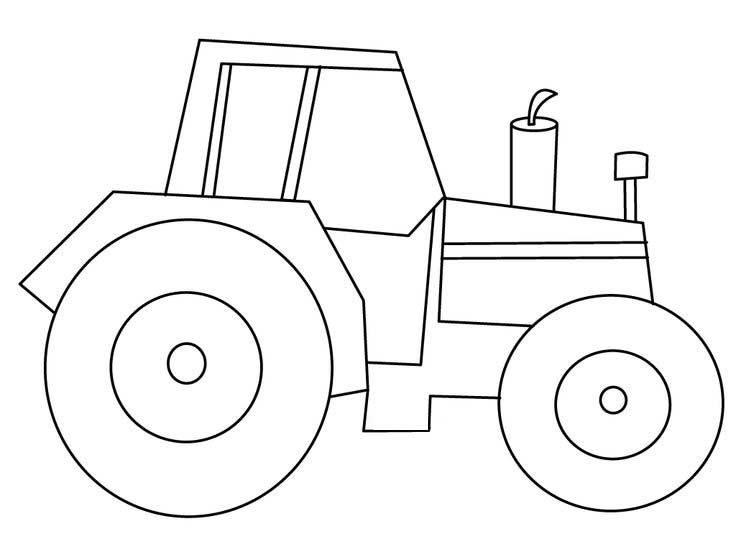 Easy Tractor Coloring Pages