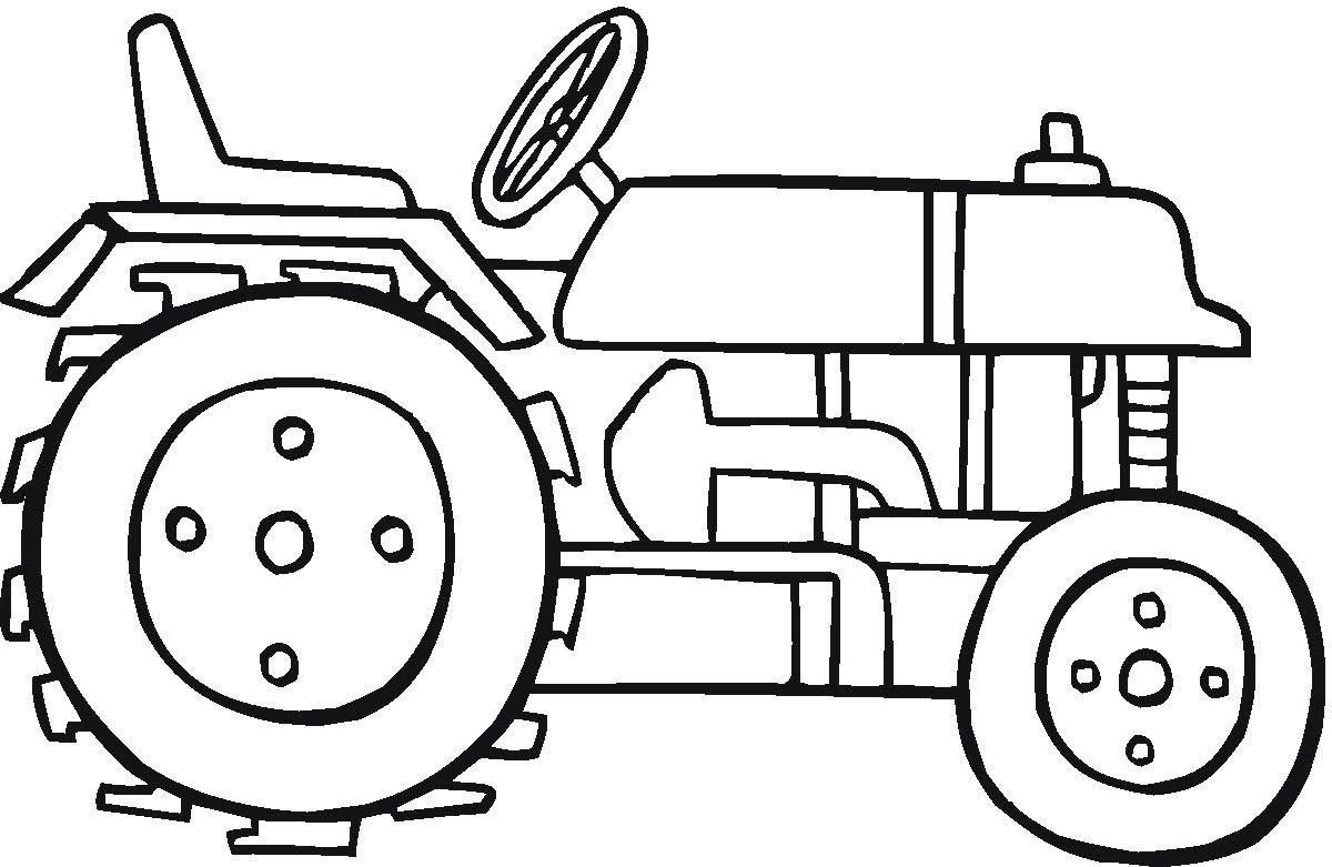Farm Tractor Coloring Pages To Print