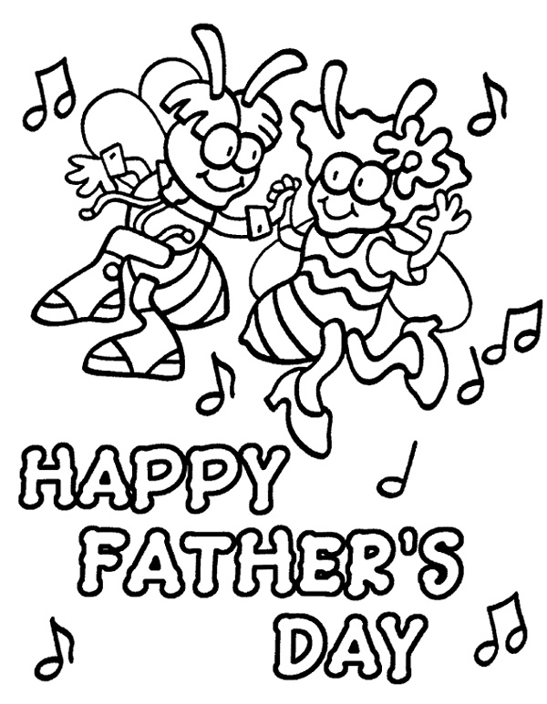 Fathers Day Coloring Pages Download
