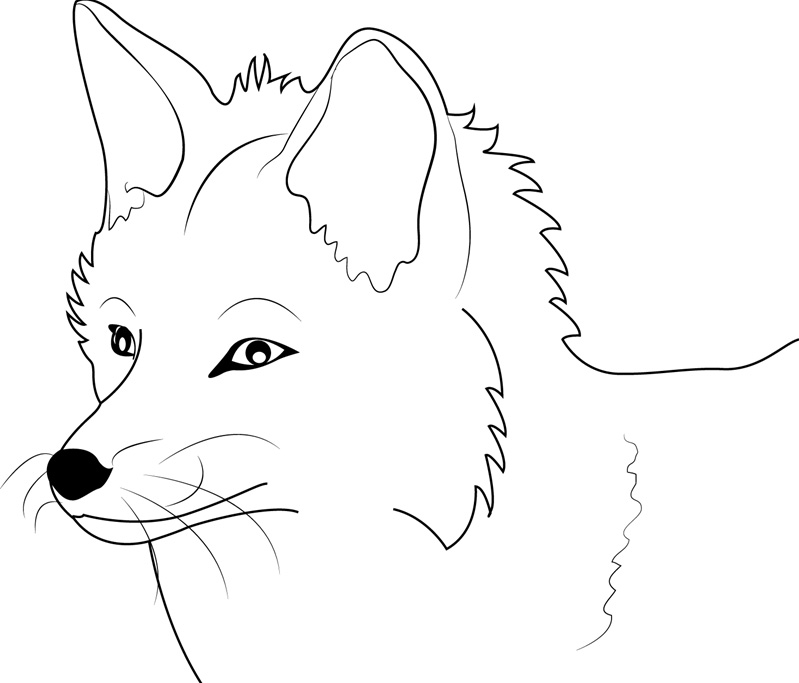 It is a picture of Massif Free Fox Coloring Pages