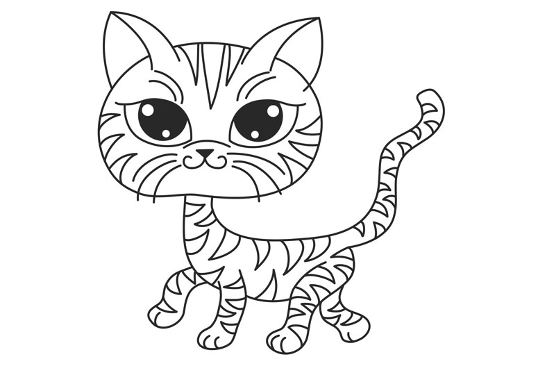 Free Cat Coloring To Print