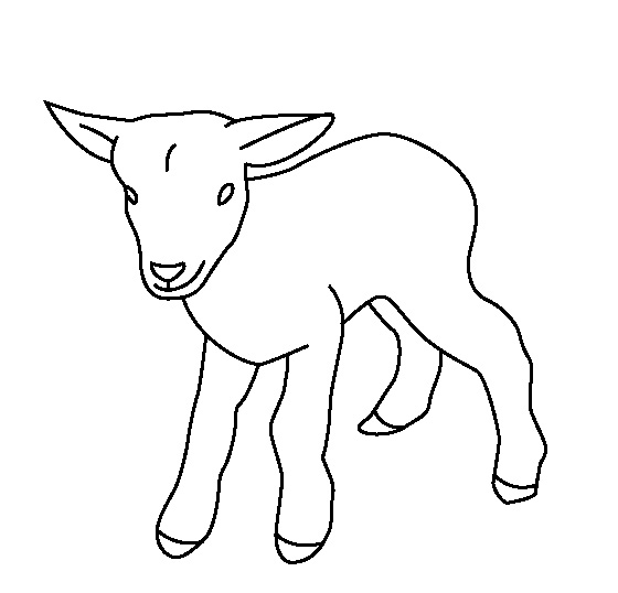 Goat Coloring Pages For Toddelers