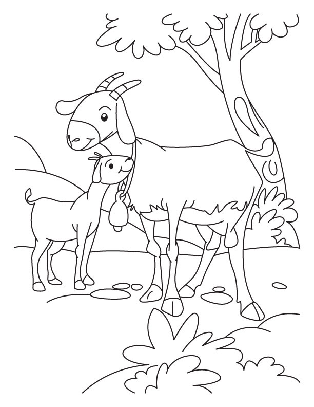 Goat Coloring Pages To Print