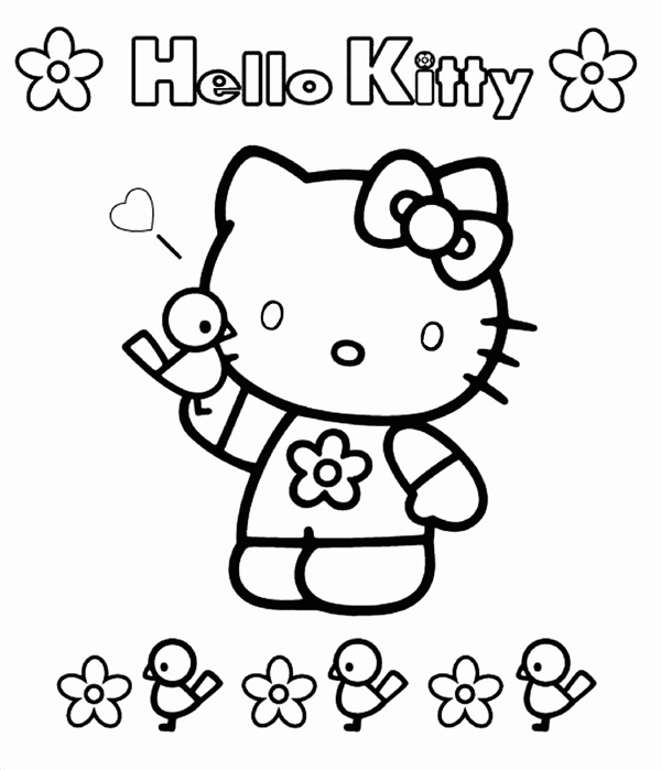 Hello Kitty Coloring Pages Free Printable
