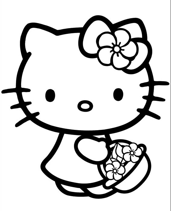 Hello Kitty Coloring Pages FreeHello Kitty Coloring Pages Free