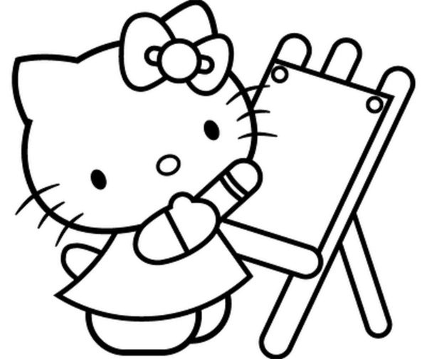 Hello Kitty Coloring Pages To Print