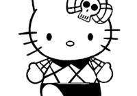 Hello Kitty Nerd Coloring Pages
