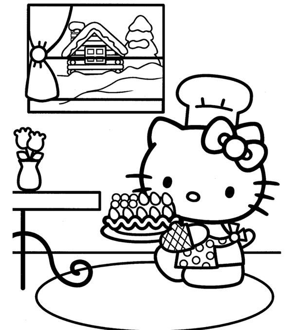Hello Kitty Thanksgiving Coloring Pages