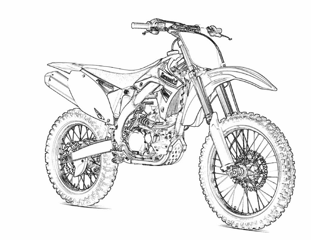 Hot Wheels Motorcycle Coloring Pages