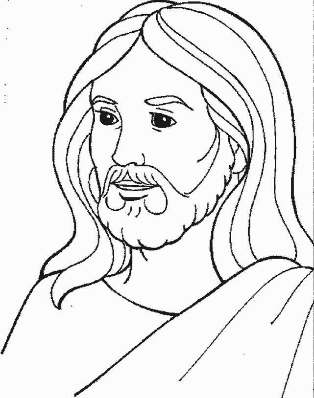 Jesus Face Coloring Pages
