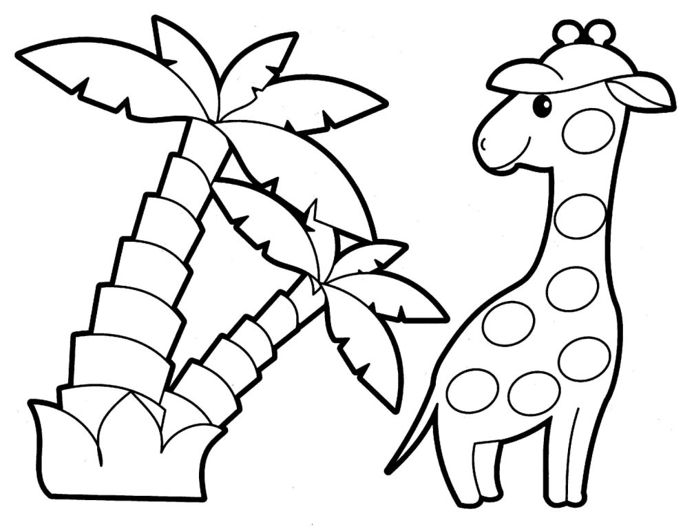 Jungle Animal Coloring Pages For Preschoolers