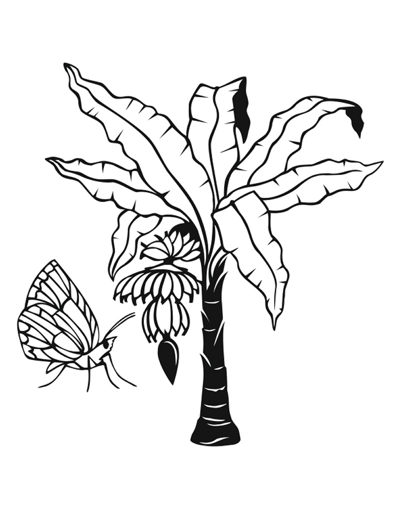 Jungle Plants Coloring Pages