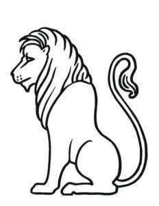 lion coloring pages printable