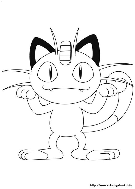 Meowth Pokemon Coloring Pages