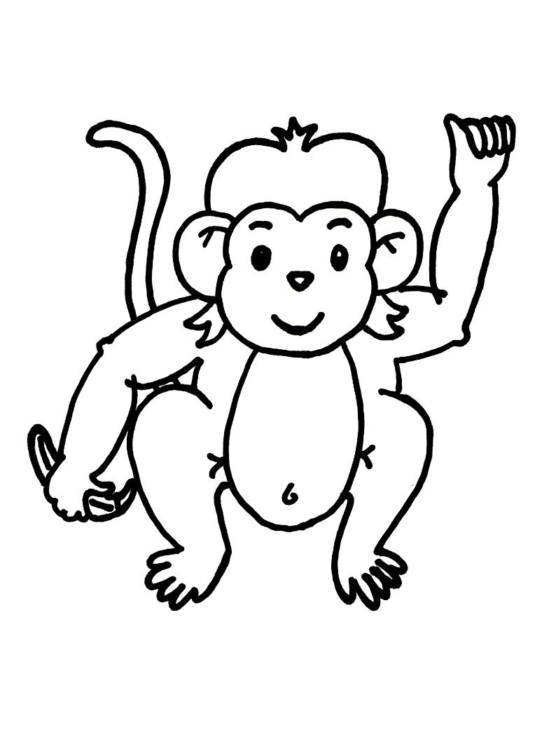 Monkey Coloring Pages For Kids Printable